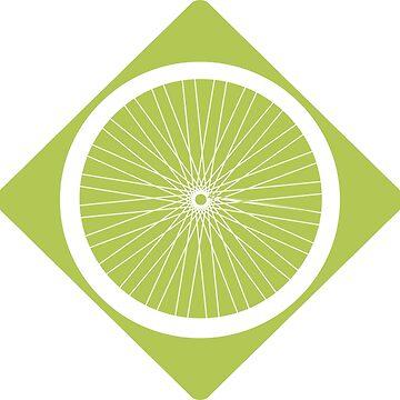 Bike wheel sticker by sledgehammer