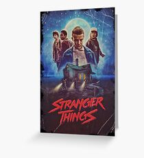 stranger things cover Greeting Card