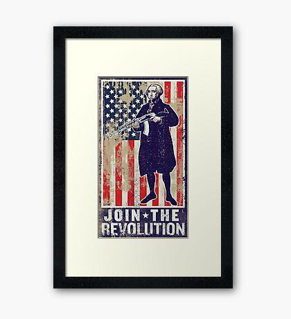Join The Revolution Washington Framed Print