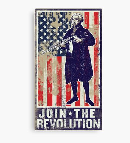 Join The Revolution Washington Canvas Print