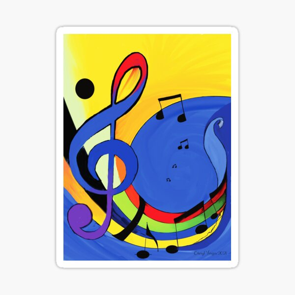 The Color of Music Sticker