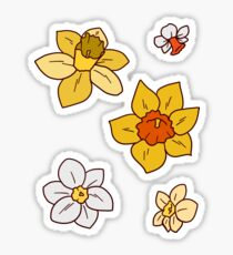 Colorful Daffodils Sticker
