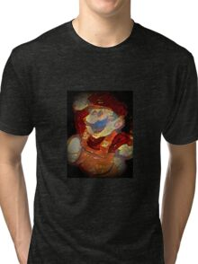 Grand Dad - Bootleg Mario - Flame Charcoal Darkness Edition Tri-blend T-Shirt