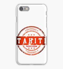 TAHITI Stamp iPhone Case/Skin