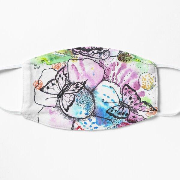 Flowers and butterflies Flat Mask