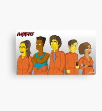 Misfits - Simpsons Style! Canvas Print