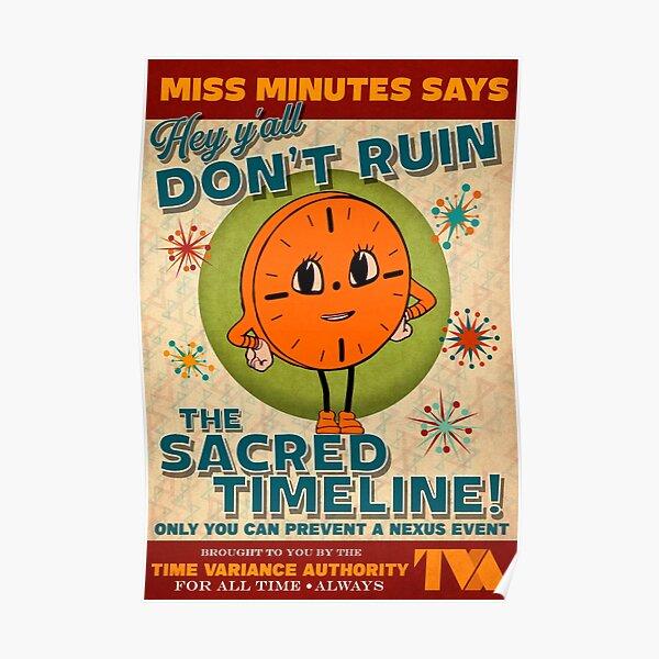 Miss Minutes TVA Retro Propaganda Artwork Poster