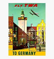 """""""TWA AIRLINES"""" Fly to Germany Advertising Print Photographic Print"""