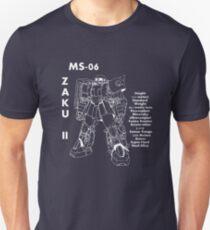 Zaku II Tech Specs T-Shirt