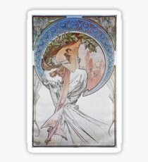 Alphonse Mucha - La Poesiepoetry Sticker