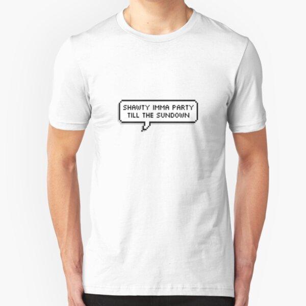 Shawty Imma Party hasta el atardecer [[TRANSPARENTE]] Camiseta ajustada
