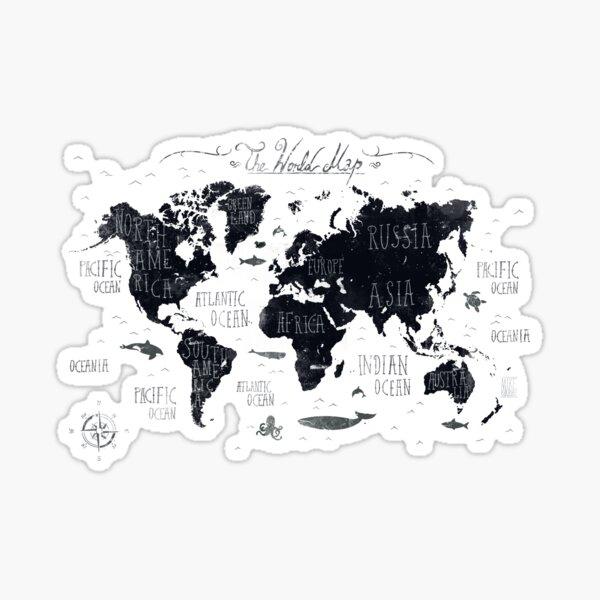 The World Map Sticker