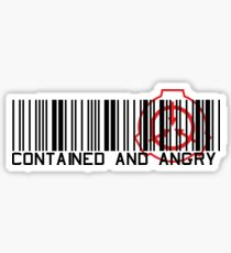 Contained and angry Sticker