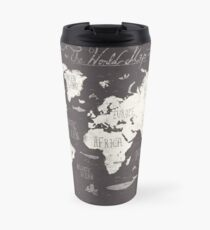 World map travel mugs redbubble the world map travel mug gumiabroncs