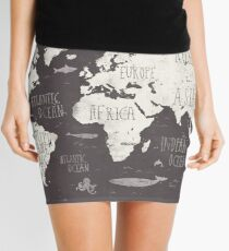 The World Map Mini Skirt