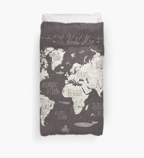 The World Map Duvet Cover