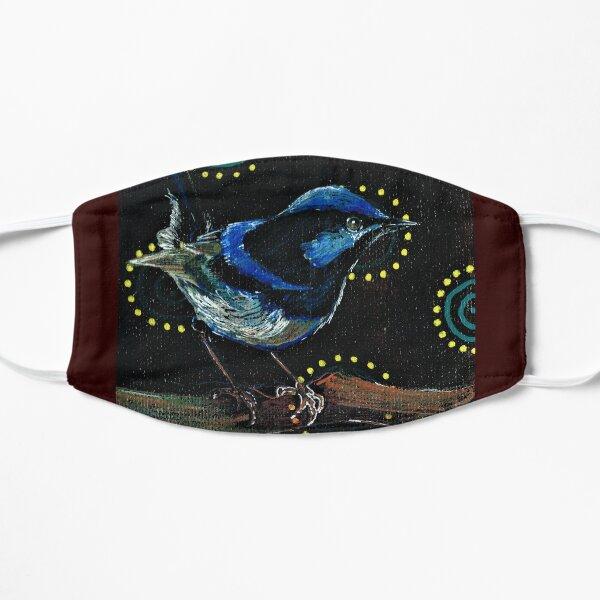 Happy Blue Wren  Flat Mask