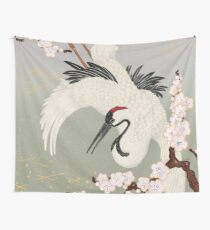 Japanese Crane Wall Tapestry