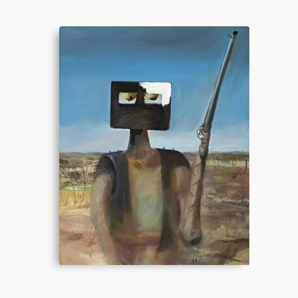Sidney Nolan - 'Outlaw' (1955), oil and enamel on board. High quality print of the the iconic Australian painting. Canvas Print