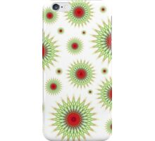 Mandala pattern in green and red iPhone Case/Skin