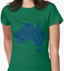 Australian Distilleries Map (Blue) T-Shirt
