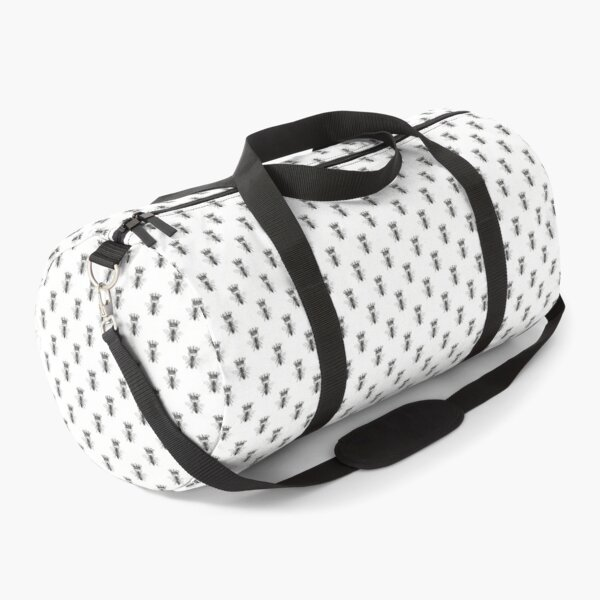 Queen Bee | Vintage Honey Bees | Black and White |  Duffle Bag