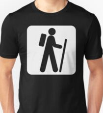 Recreational Hiking Sign Symbol  T-Shirt