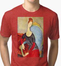 Amedeo Modigliani - Mme Hebuterne In A Blue Chair  Tri-blend T-Shirt
