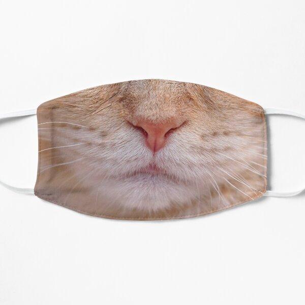 Funny - Close Up Orange Cat Face Mask - Cat Flat Mask