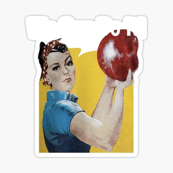 Bowling Ball Team Uniform Fun Sticker