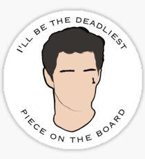 deadliest piece Sticker