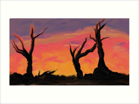 Deadwood Sunset Original by WilloNyx