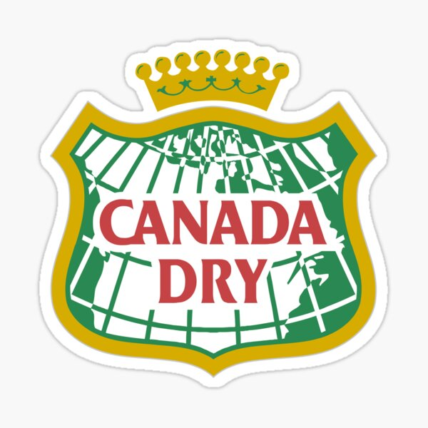 Canada Dry is a brand of soft drinks. Sticker