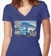 GREYHOUND TO BANFF Women's Fitted V-Neck T-Shirt