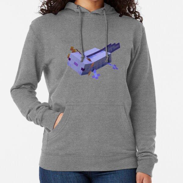 Lavender Axolotl Minecraft (Blue| Perfect Gift Lightweight Hoodie