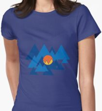 Mountain Geo Womens Fitted T-Shirt