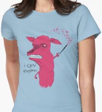 Bad Explanation Art Dog Womens Fitted T-Shirt