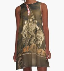 United States Marine War Memorial A-Line Dress