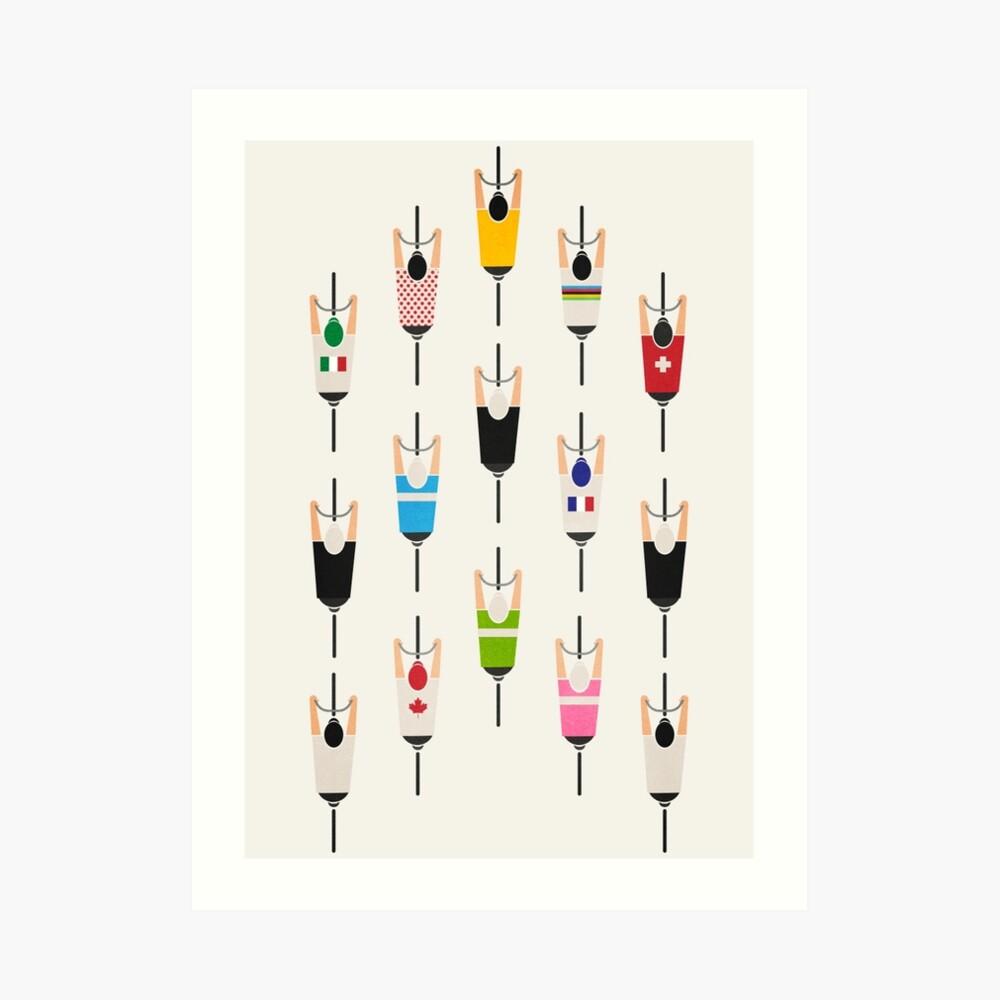 Fahrradgruppe Kunstdruck