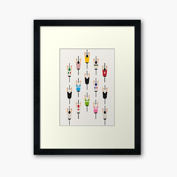 Bicycle squad Framed Art Print
