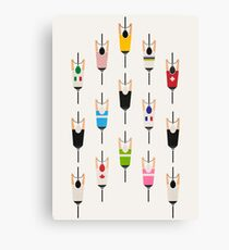 Bicycle squad Canvas Print