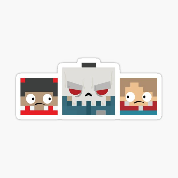 Slayaway Camp - Square Killer and Victims Sticker