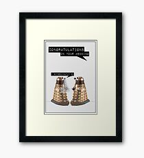 Dalek Wedding Framed Print