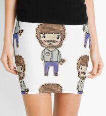 bob ross watercolor doodle Mini Skirt
