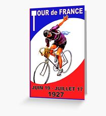 """TOUR DE FRANCE"" Vintage Bicycle Race Advertising Print Greeting Card"