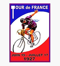 """TOUR DE FRANCE"" Vintage Bicycle Race Advertising Print Photographic Print"