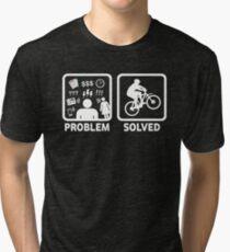Problem Solved Mountain Biking Tri-blend T-Shirt