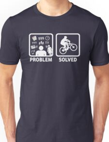 Problem Solved Mountain Biking Unisex T-Shirt