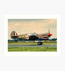 "Curtiss P-40E Kittyhawk Ia N94466 AK933/UE-S ""Sneak Attack"" Art Print"