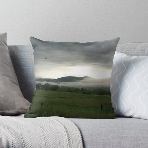 Balloon over Steamboat  Throw Pillow